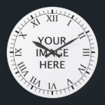 """Create Your Own Custom Large Clock<br><div class=""""desc"""">Add you photos to create your own unique custom wall clock with Templates roman numeral</div>"""