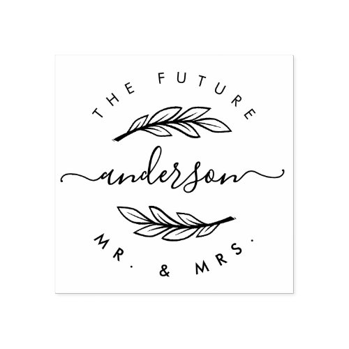 Create Your Own Custom Modern Future Mr  Mrs Rubber Stamp