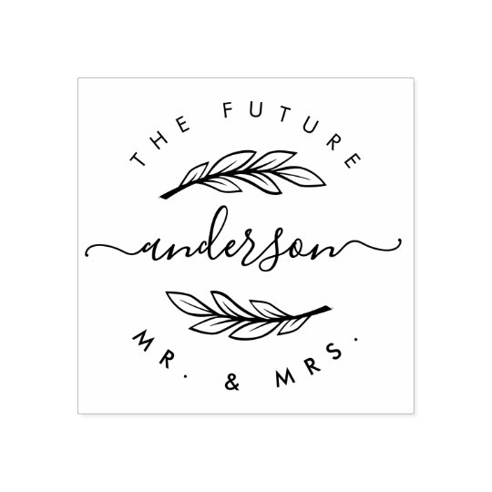 """Design Your Own Rubber Stamp: Create Your Own Custom Modern """"Future Mr & Mrs"""" Rubber"""