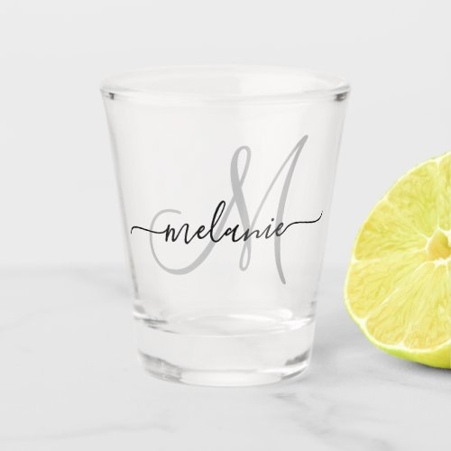 Create Your Own Custom Monogram And Name Script Shot Glass