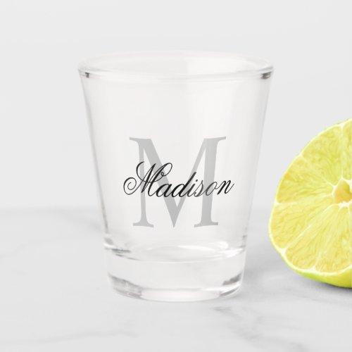 Create Your Own Custom Monogram And Name Shot Glass