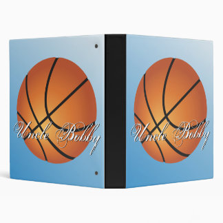 Create your Own Custom Monogram Basketball 3 Ring Binder