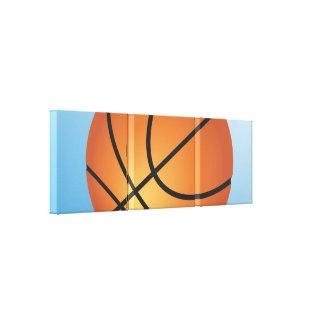 Create your Own Custom Monogram Basketball Canvas Print