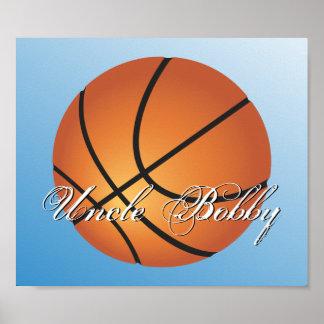 Create your Own Custom Monogram Basketball Poster