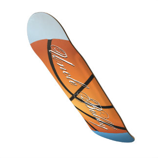 Create your Own Custom Monogram Basketball Skateboard Deck