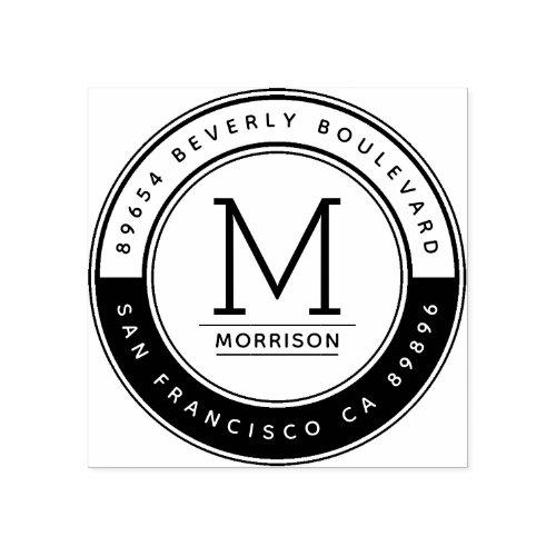 Create Your Own Custom Monogram Return Address Rubber Stamp