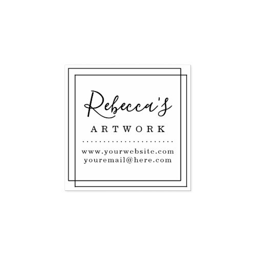 Create Your Own Custom Name Artwork Rubber Stamp