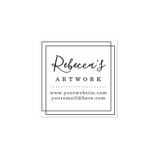 Design Your Own Rubber Stamp: Create Your Own Custom Name Artwork Rubber Stamp