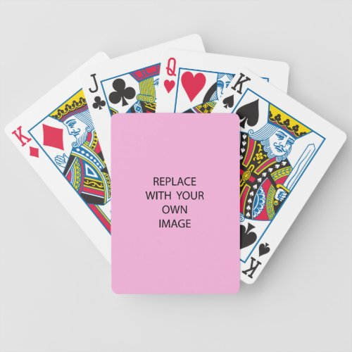 Create your own custom photo bicycle playing cards