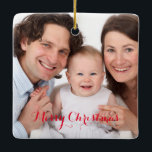"""Create Your Own Custom Photo Ceramic Ornament<br><div class=""""desc"""">Create Your Own Custom Photo Ornament. Replace the front and back template photos with your own to make a fun gift ornament for self, friends or family. Customize and personalize the text, if desired. Your selected photo design is on 8 different styles of ornament to choose from.</div>"""