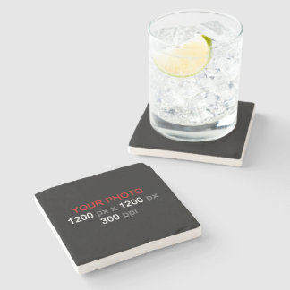 Create Your Own Custom Photo Stone Beverage Coaster