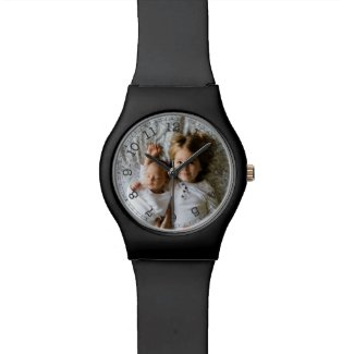 Create Your Own Custom Photo Watch Choice of Glossy or Matte Plastic Watch Band