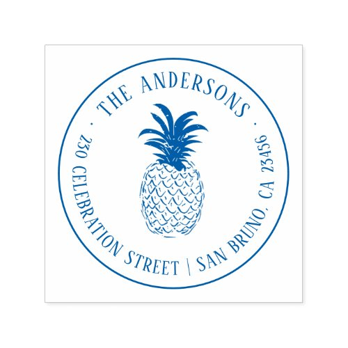 Create Your Own Custom Pineapple Return Address Self_inking Stamp