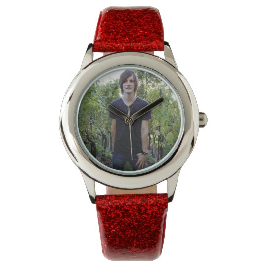 Create Your Own Custom Red Glitter Watch