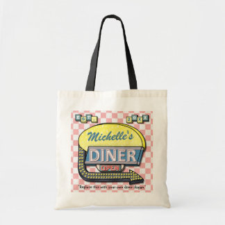 Create Your Own Custom Retro 50 s Diner Sign Bags