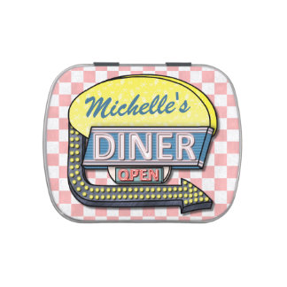 Create Your Own Custom Retro 50's Diner Sign 2 Candy Tin