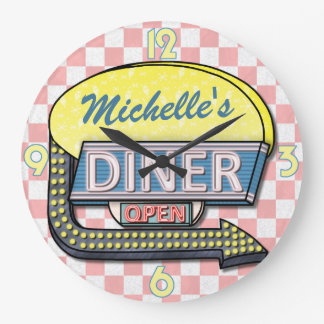 Create Your Own Custom Retro 50's Diner Sign 2 Wallclock