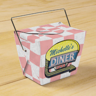 Create Your Own Custom Retro 50's Diner Sign 2 Favor Box