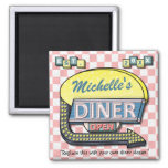 Create Your Own Custom Retro 50's Diner Sign 2 Inch Square Magnet