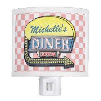 Create Your Own Custom Retro 50's Diner Sign 2 Night Light
