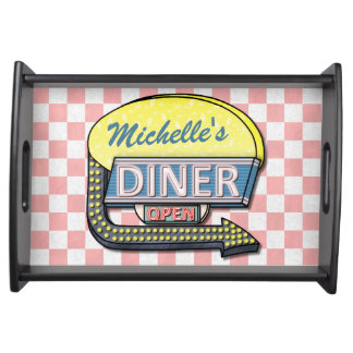 Create Your Own Custom Retro 50's Diner Sign 2 Serving Tray