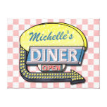 Create Your Own Custom Retro 50's Diner Sign Canvas Print