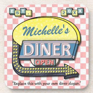 Create Your Own Custom Retro 50's Diner Sign Coaster