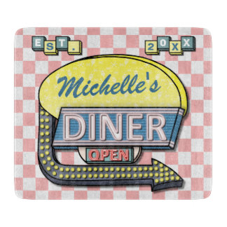 Create Your Own Custom Retro 50's Diner Sign Cutting Board