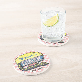 Create Your Own Custom Retro 50's Diner Sign Drink Coaster