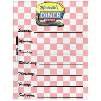 Create Your Own Custom Retro 50's Diner Sign Dry Erase Whiteboard