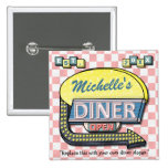 Create Your Own Custom Retro 50's Diner Sign Pinback Button