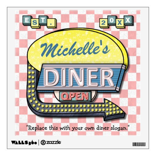 Create Your Own Custom Retro 50 39 S Diner Sign Room Graphic