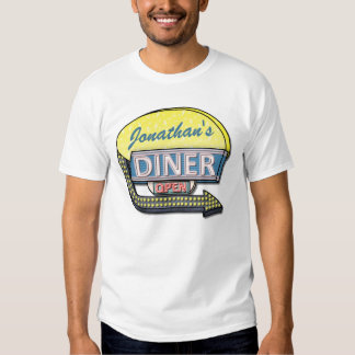 Create Your Own Custom Retro 50's Diner Sign T Shirt