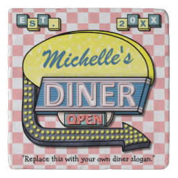 Create Your Own Custom Retro 50's Diner Sign Trivet