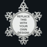 "Create Your Own Custom Snowflake Ornament<br><div class=""desc"">Create / make your own custom printed Christmas snowflake or ball ornament -- with your own text, photo or other picture -- using this easy diy design template. INSTRUCTIONS: To add your own image, simply replace the template image with yours (click &quot;change&quot; in the Personalize It field, or &quot;clear&quot; to...</div>"
