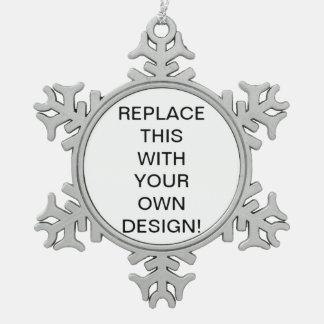 Create Your Own Custom Snowflake Ornament