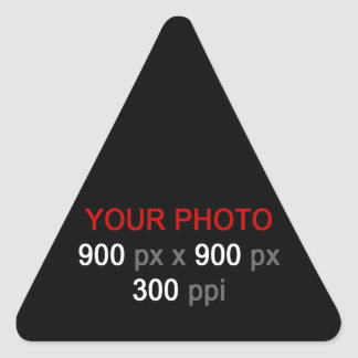 Create Your Own Custom Sticker Triangle