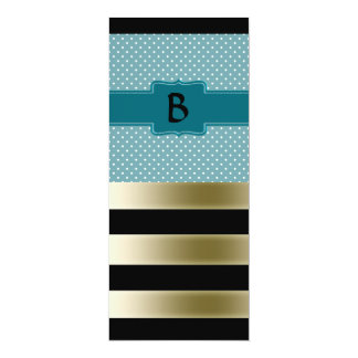 Create Your Own Custom Teal Jade Polka Dots Card