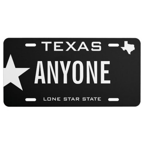 Create Your Own Custom Texas License Plate