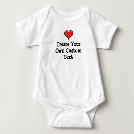 Create your own custom text baby bodysuit