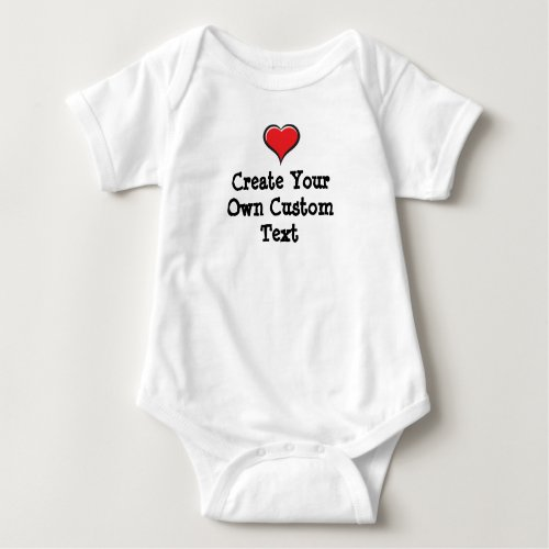 Create your own custom text baby bodysuit