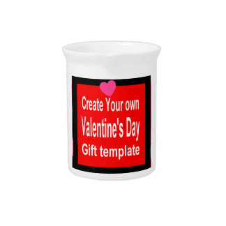 Create Your Own Custom Valentines Day Gift Drink Pitchers