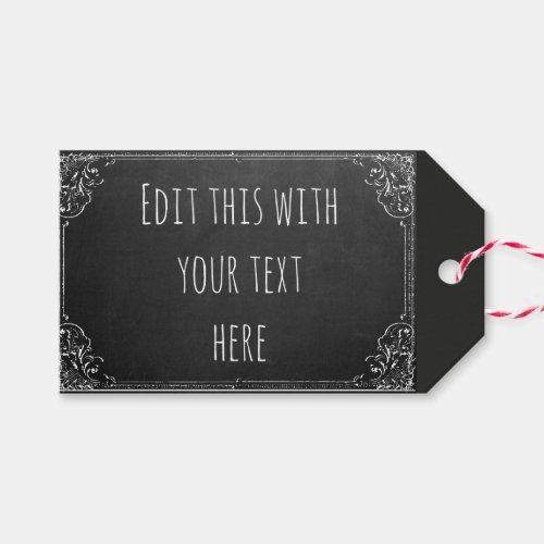 Create your own Custom Vintage Chalkboard Template Gift Tags