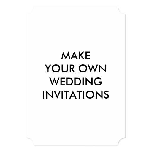 Create Your Own Custom Wedding Invitations 5 X 7