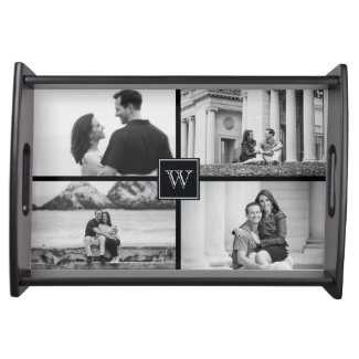 Create Your Own Customizable Wedding Photo Collage Serving Trays