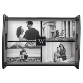 Create Your Own Customizable Wedding Photo Collage Serving Platters