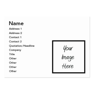 Create Your Own - Customize Blank Business Card Template