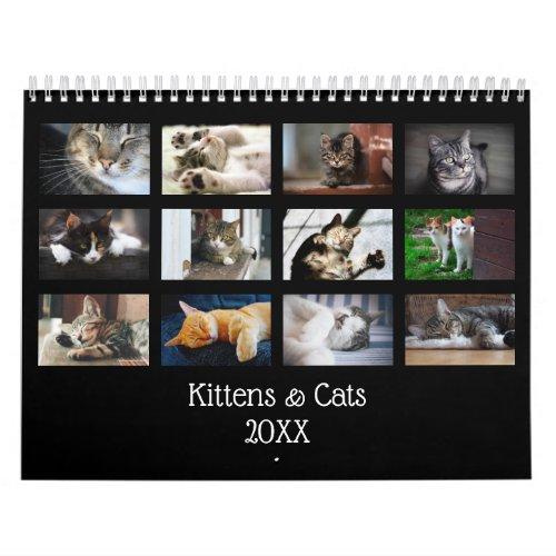 Create Your Own Cute Black Cover 2020 Pet Photo Calendar