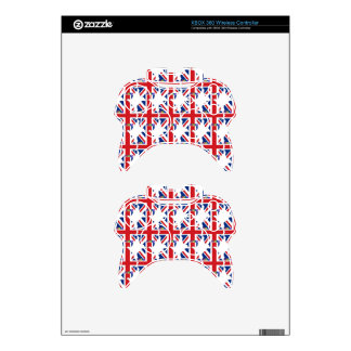 Create Your Own Cute Nice Lovely I LOVE UK Xbox 360 Controller Skin