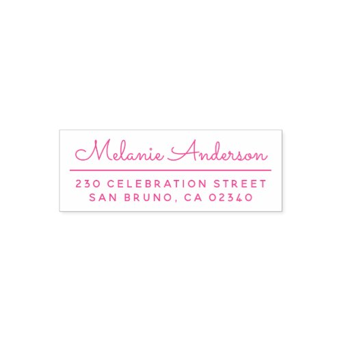 Create Your Own Cute Script Name  Return Address Self_inking Stamp